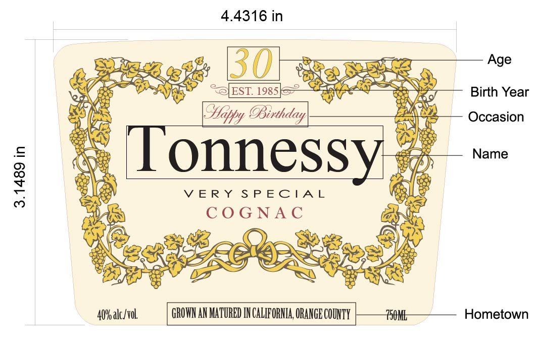 1065x688 Personalized Hennessy Bottle Label