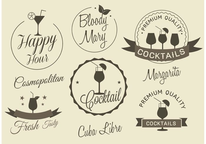 700x490 Free Vector Cocktail Labels Free Vectors Ui Download