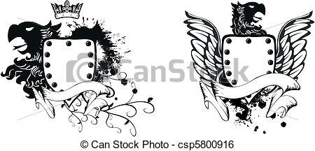 450x216 Heraldic Eagle Coat Of Arms Set10. Heraldic Eagle Coat Of Arms Set