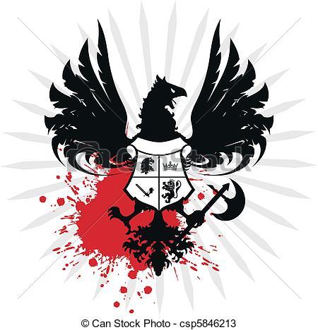 450x468 Heraldic Eagle Coat Of Arms. Heraldic Coat Of Arms In Vector Format.