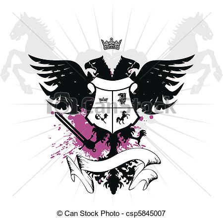 450x440 Heraldic Eagle Double Head04. Heraldic Eagle Double Head In Vector