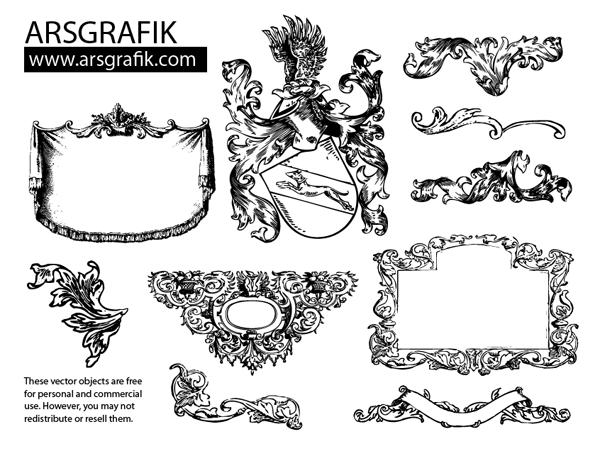 600x451 Free, Vintage Vector, Medieval Heraldry Graphics