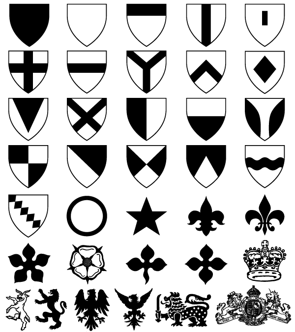 600x675 Heraldic Shield Coat Of Arms Vector Amp Photoshop Shapes