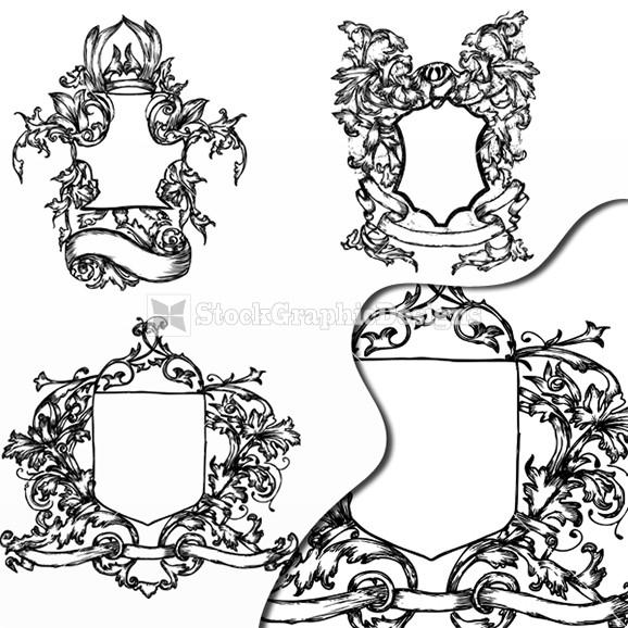 578x578 Illustration Of Ornate Heraldry Shield Vector Graphics Heraldry