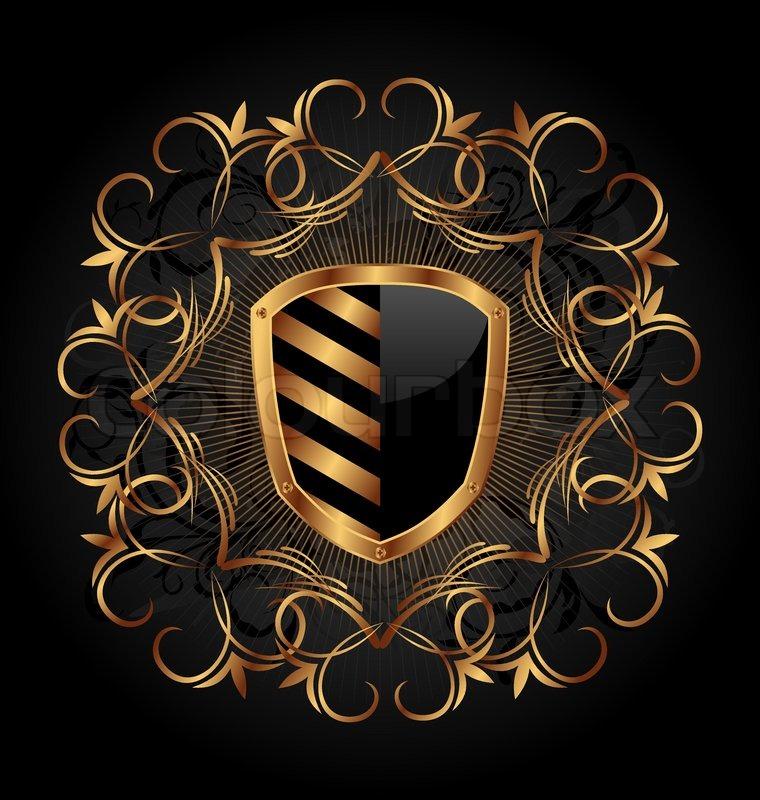 760x800 Illustration Ornate Heraldic Shield