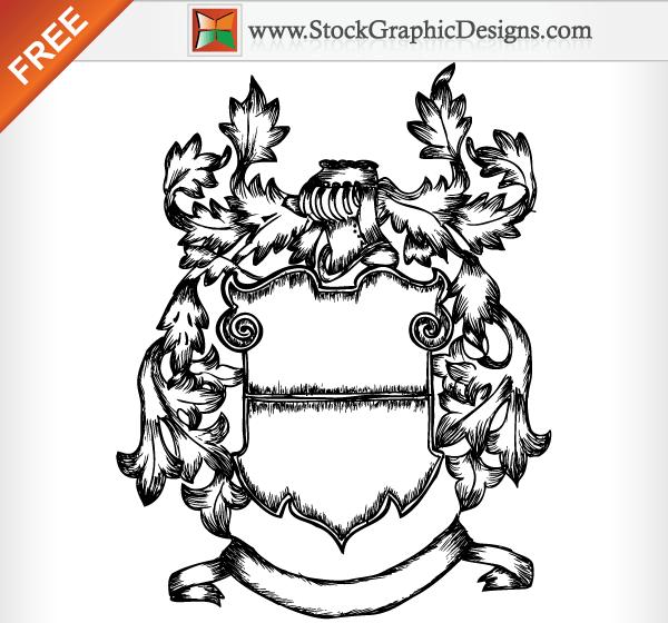 600x560 Me Val Ornate Heraldic Shield Free Vector Image Medieval Vector