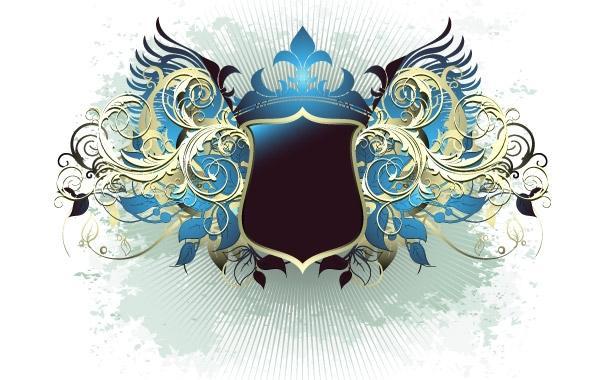 600x380 Ornate Heraldic Shield
