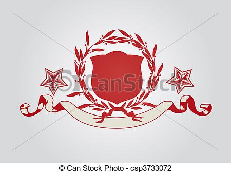 450x337 An Heraldic Shield Or Badge With Stars, Blank So You Can Add Your