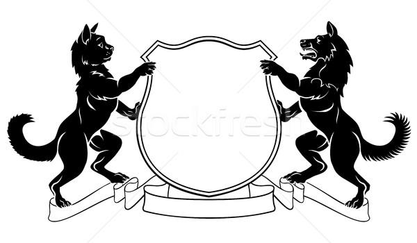 600x350 Pets Crest Coat Of Arms Heraldic Shield Vector Illustration