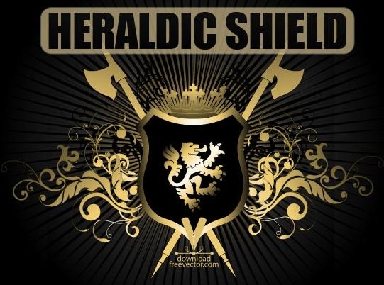 541x402 Vector Heraldic Shield Free Vector In Encapsulated Postscript Eps