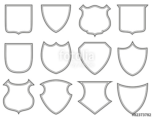 500x387 Collection Of Heraldic Shield Shapes Stock Image And Royalty Free