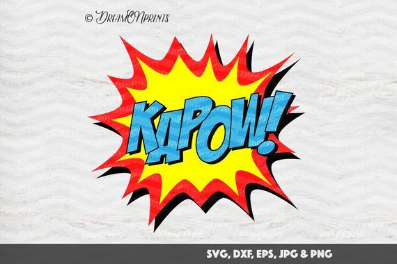 570x380 Super Hero Svg Hero Vector Files Kapow Comics Cut Files Svg Etsy