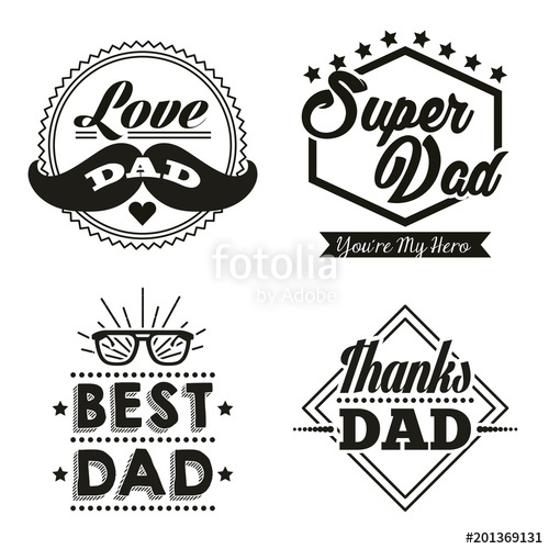 500x500 Happy Fathers Day Stickers With Moustache Best Dad Glasses Super