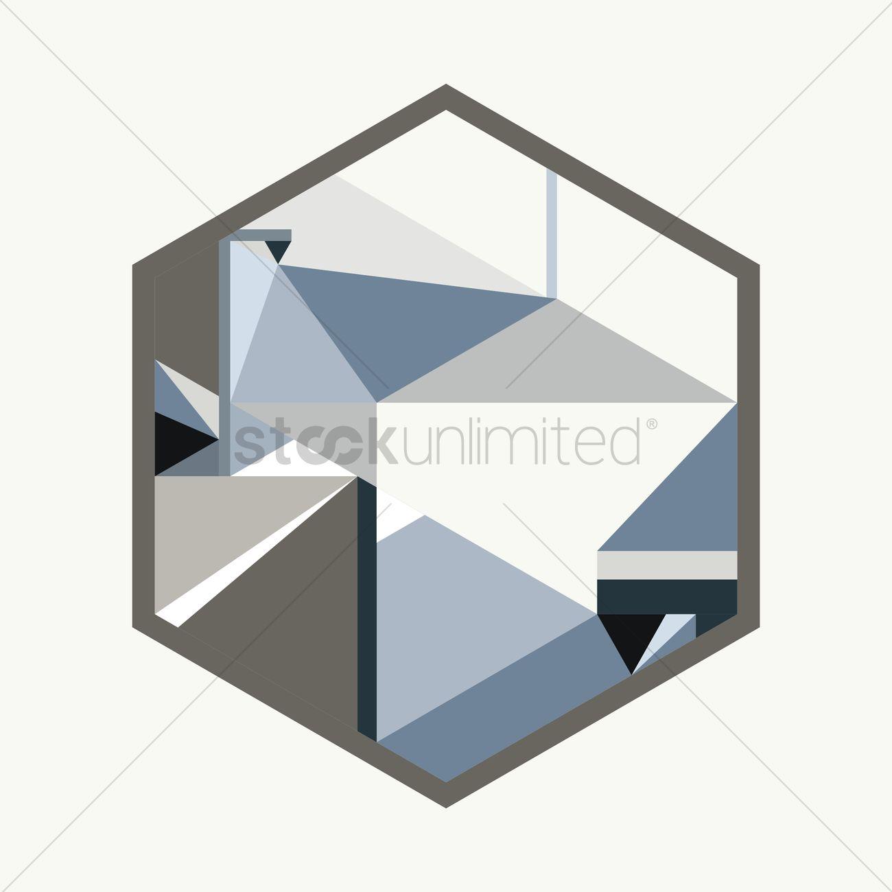 1300x1300 Geometric Design In A Hexagon Vector Image