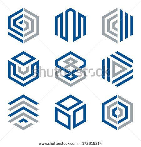 450x470 Hexagon Shaped Design Elements 2. Abstract Hexagonal Vector