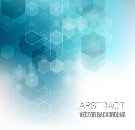 444x427 Hexagon With Blurs Background Vector 02 Free Download