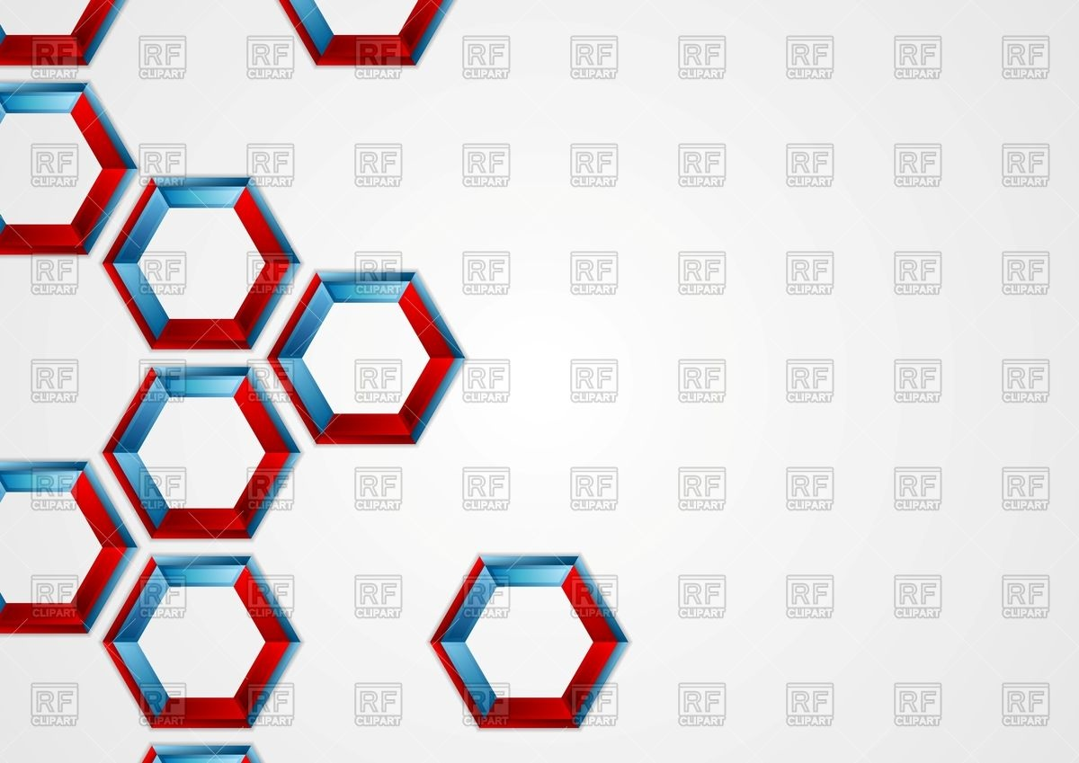 1200x849 Abstract Blue And Red Hexagons Corporate Background Vector Image