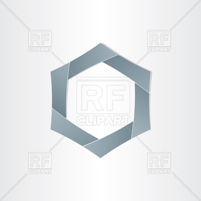 400x400 Abstract Gray Hexagon Vector Image Vector Artwork Of Objects
