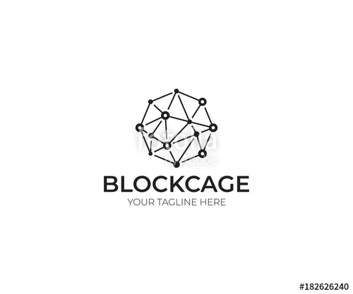 500x417 Blockchain Logo Template. Technology Vector Design. Cryptocurrency
