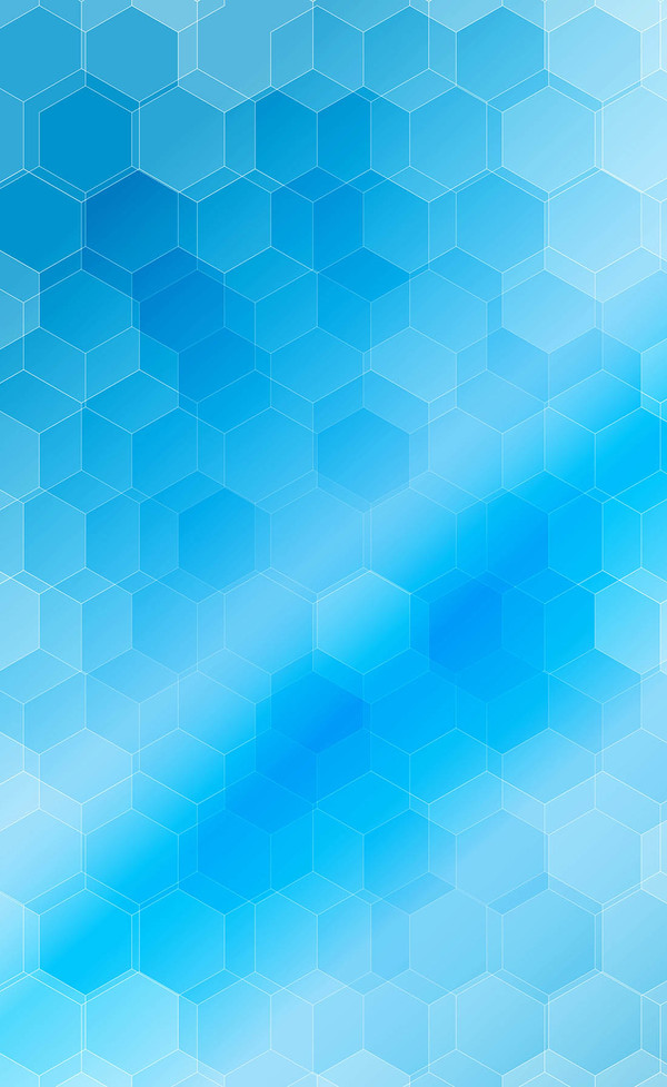 600x977 Blue Blurs Background With Hexagon Vector 01 Free Download