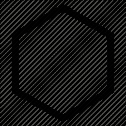 512x512 Hexagon Vector