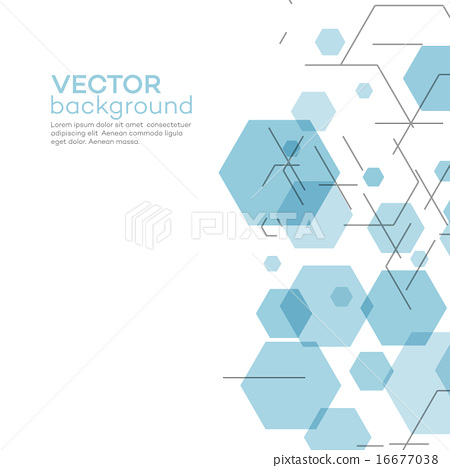 450x468 Abstract Background With Hexagons. Vector Illustration