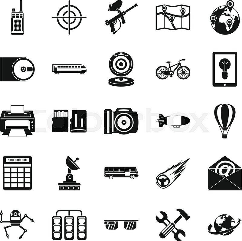 800x796 Hi Tech Icons Set. Simple Set Of 25 Hi Tech Vector Icons For Web