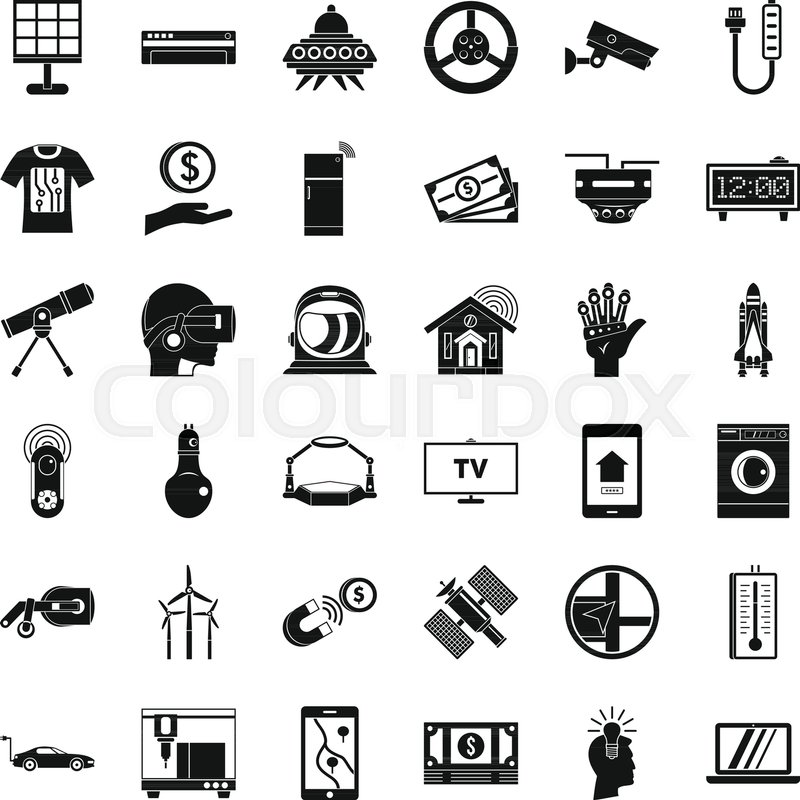 800x800 Hi Tech Icons Set. Simple Style Of 36 Hi Tech Vector Icons For Web
