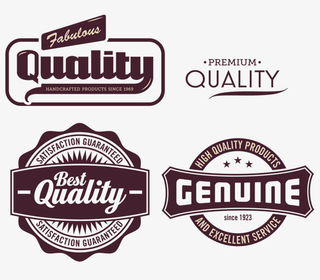 650x568 Quality Tag Vector, Dark Red, English, Good Quality Png And Vector