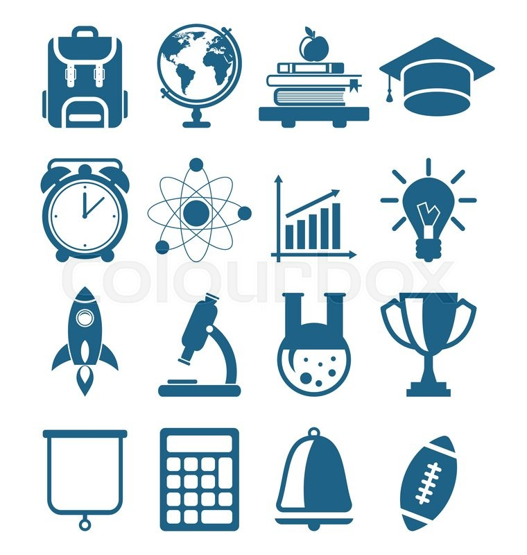 760x800 Illustration High School And College Education Minimal Icons