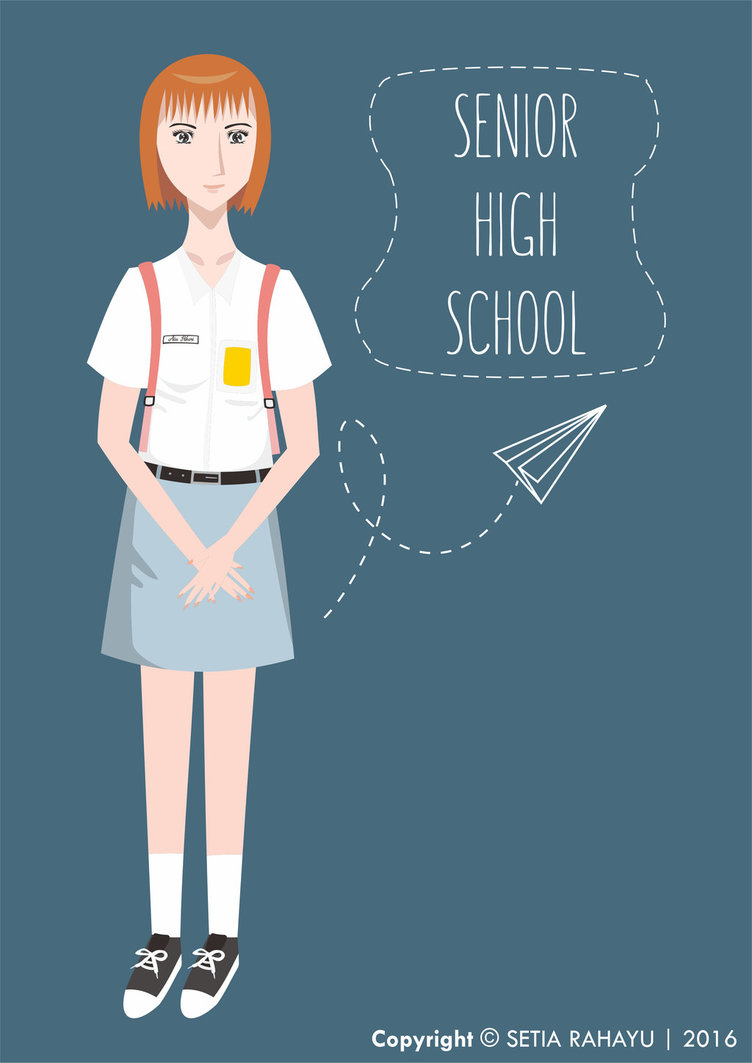 752x1063 Indonesian Senior High School Student By Setiarart