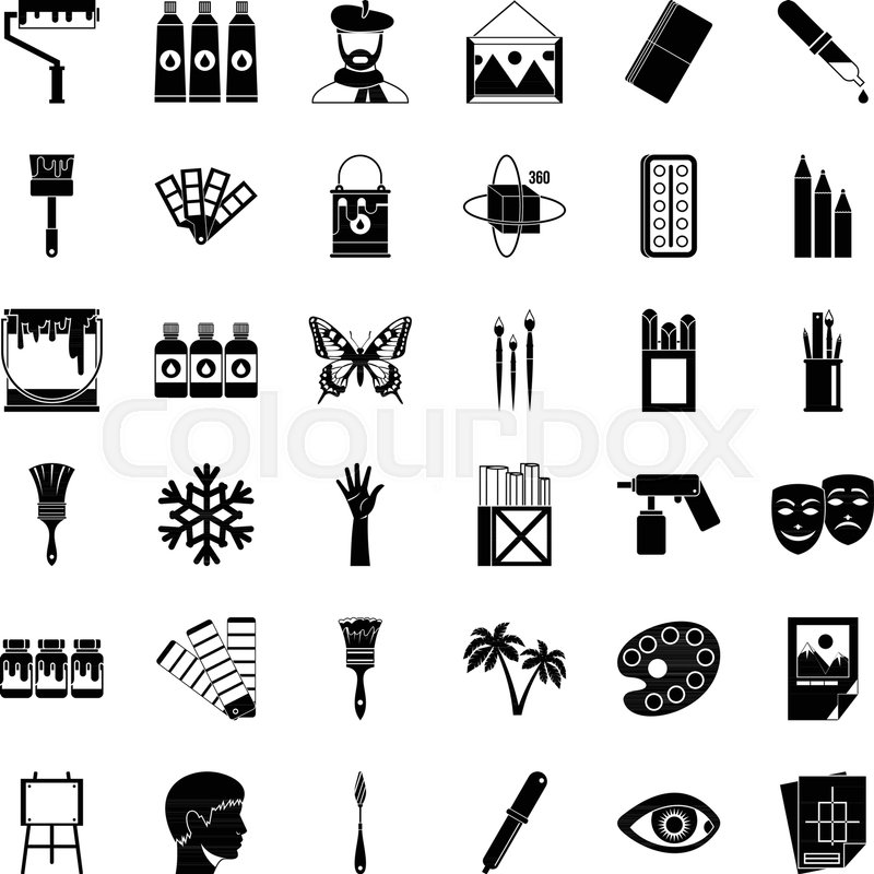 800x800 Art High School Icons Set. Simple Set Of 36 Art High School Vector
