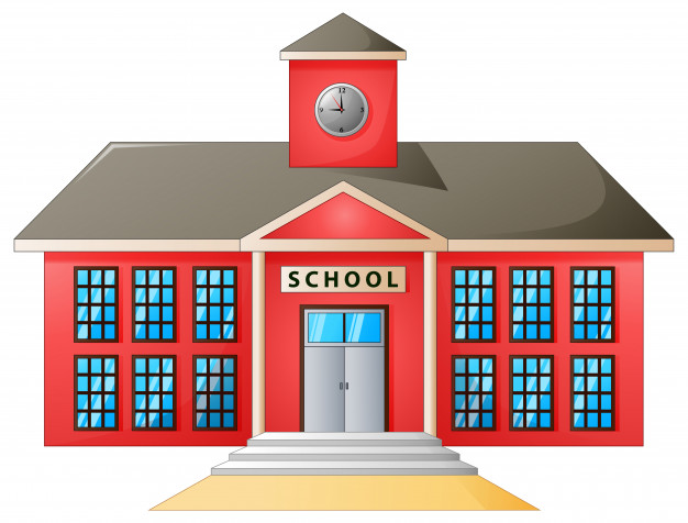 626x476 Vector Illustration Of High School Modern Building Vector