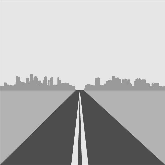 660x660 Highway Vector Illustration
