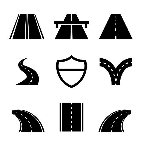 490x490 Highway Free Vector Art