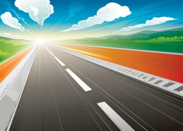 600x429 Infinity Sunrise Highway Vector Graphic