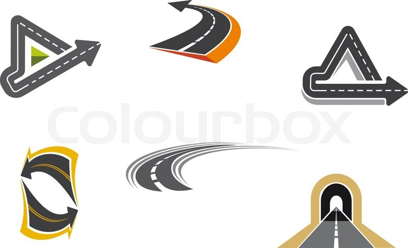 800x486 Road And Highway Symbols Stock Vector Colourbox