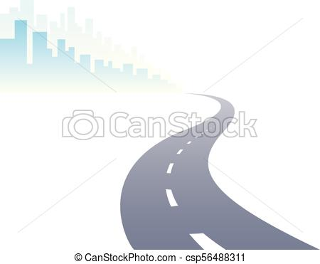 450x371 Road To City Curved Highway Vector Perfect Design Illustration
