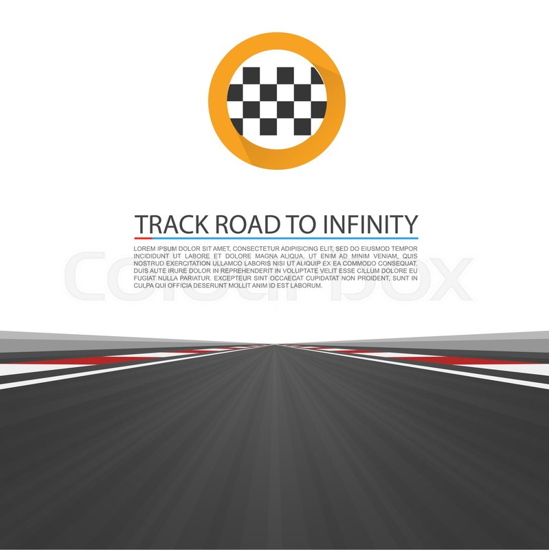 799x800 Track Road To Infinity, Road Vector Highway , Vector Illustration