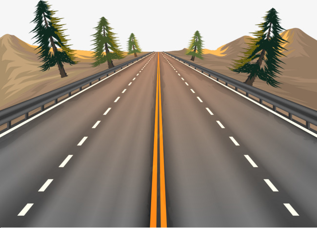 650x468 Vector Material Highway, Highway, Vector, The Way Png And Vector