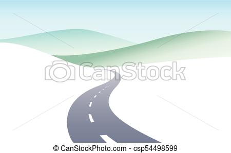 450x299 Country Road Curved Highway Vector Perfect Design Illustration
