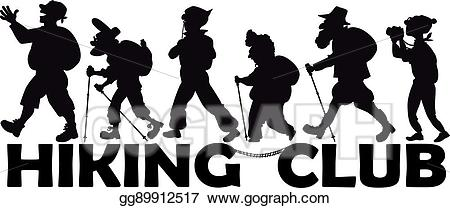450x208 Group Clipart Hiker ~ Frames ~ Illustrations ~ Hd Images ~ Photo
