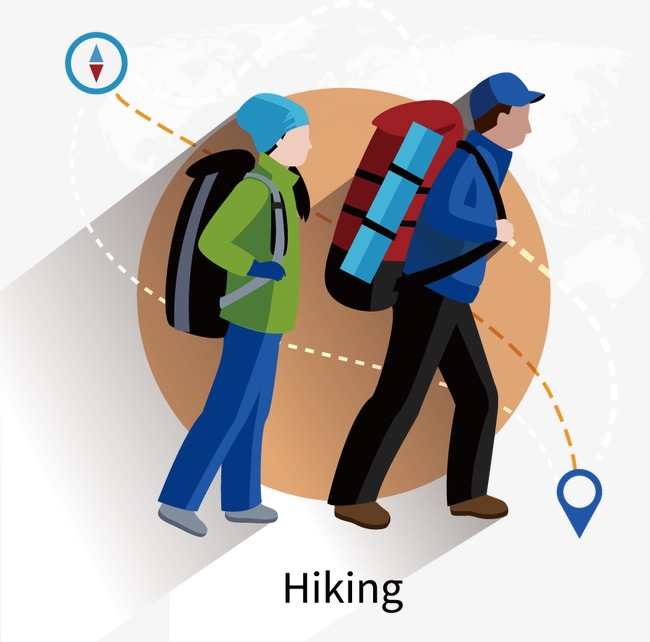 650x642 Vector Flat Hiking, Vector, Flat, Travel By Walking Png And Vector