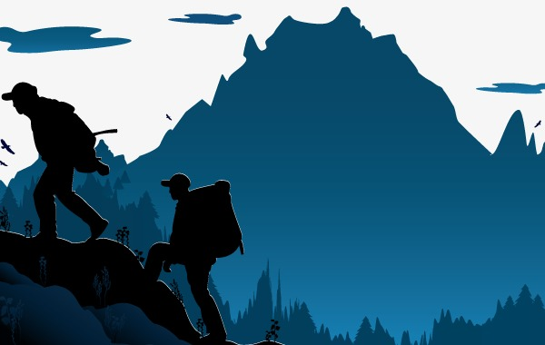 600x380 Vector Hiking, Pretty, Hd, Blue Png And Vector For Free Download