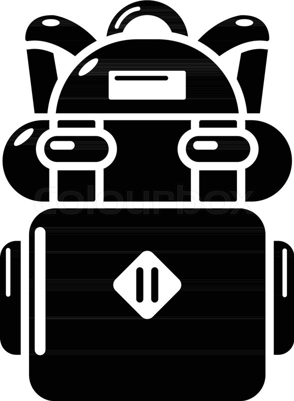588x800 Backpack Hiking Icon. Simple Illustration Of Backpack Hiking