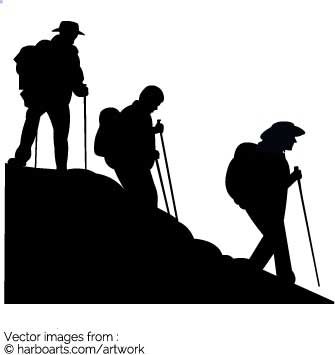 335x355 Download Group Hiking Silhouette