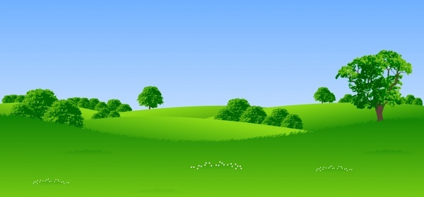 600x279 Green Hills Landscape Free Vector Download (8,030 Free Vector) For