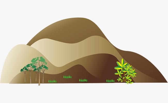 650x400 Hill Png Vector Element, Hill Vector, Hillside Vector, Plant Png