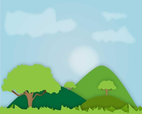 600x485 Hills Landscape Free Vector In Adobe Illustrator Ai ( .ai ) Vector