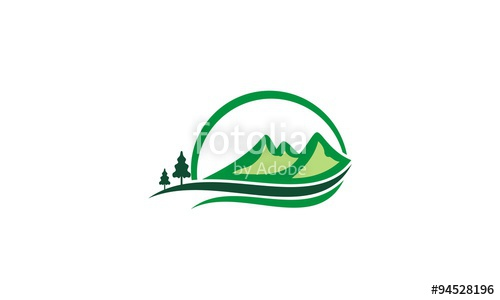 500x300 Mountain Hill Pine Tree Logo Stock Image And Royalty Free Vector